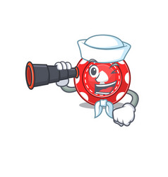 Gambling chips cartoon happy sailor style vector