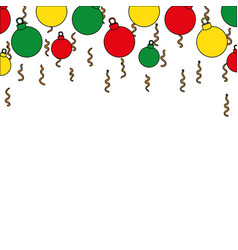garland with circle balls to christmas decoration vector image
