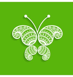 Green decorative butterfly stock vector