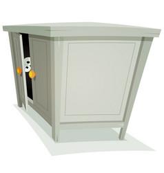 guest inside furniture vector image