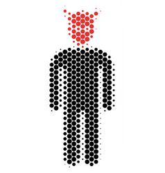 halftone dot daemon icon vector image