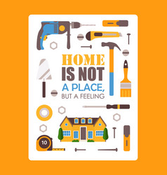 house repair typography poster vector image