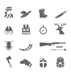 Hunting Icon Black Set vector image