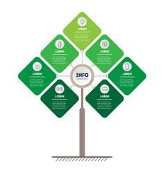 infographic green technology or education vector image