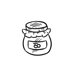 jam jar doodle vector image