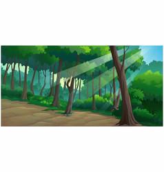 landscape forest daytime vector image