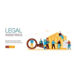 Legal assistance web banner vector