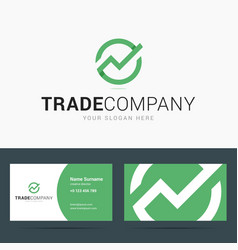 Logo and business card template for trade company vector