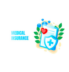 medical banner health insurance biology anatomy vector image
