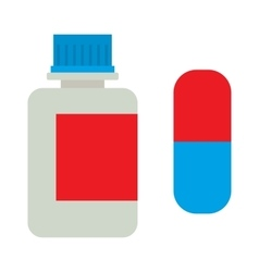 Medicine bottle vitamins jar vector image