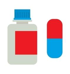 Medicine bottle vitamins jar vector