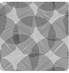 monochrome seamless pattern curved lines vector image
