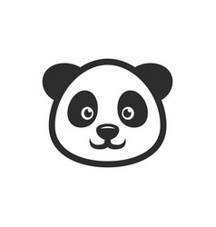 panda head smile icon images vector image