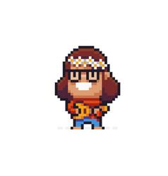 pixel art hippie vector image