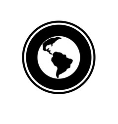 planet earth round glyph icon location in africa vector image