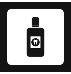 Plastic bottle of mouthwash icon simple style vector