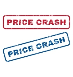 Price Crash Rubber Stamps vector