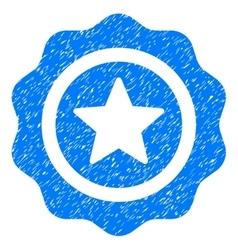 Reward seal grainy texture icon vector