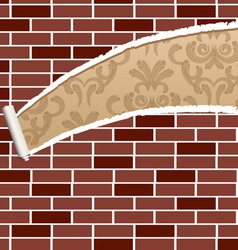 ripped brick wall vector image