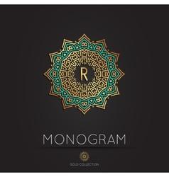Royal elegant linear abstract monogram vector