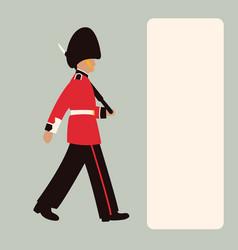 royal guard flat style vector image