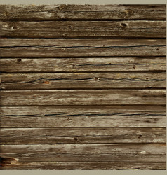 Rustic old timber wood wall floor vector
