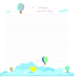 School design for notebook diary organizers vector image