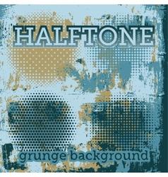 set halftone on grunge background vector image