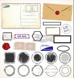Set post stamp symbols vector