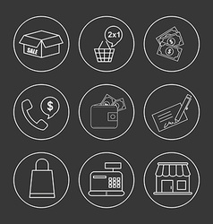shoppping concept vector image