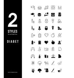 Simple line icons diabet vector