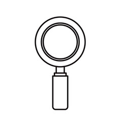 Sketch silhouette magnifying glass icon vector