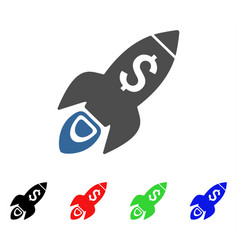 startup rocket launch icon vector image