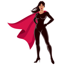 Super heroine asian vector