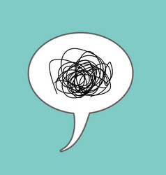 Tangled thoughts comic speech bubble isolated vector