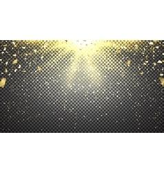 Template of golden confetti vector