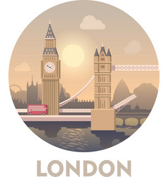 Travel destination london vector