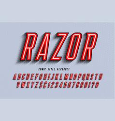 Trendy 3d comical letters design colorful vector