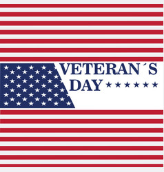 Veteran day background vector