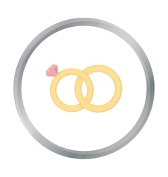 Wedding rings icon of for web vector