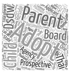 What Are The Procedures To Adopt A Thai Child text vector image