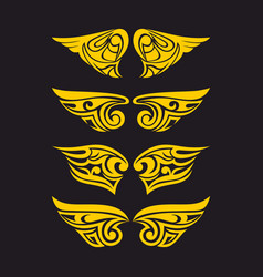 wings holy spirit vector image