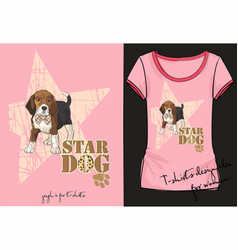 womans short with little fashion dog vector image