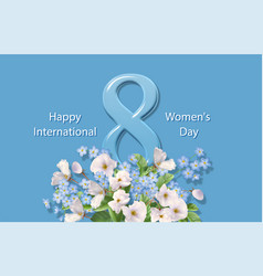 women s day greeting card vector image