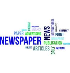 word cloud newspaper vector image