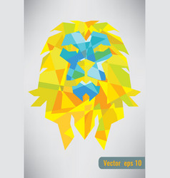 abstract isolated lion geometric shape vector image vector image