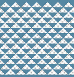 abstract pattern triangle blue and gray dots vector image vector image