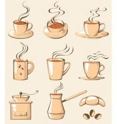 coffee line art vector image vector image