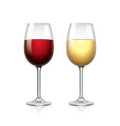 Glass of wine isolated on white vector image vector image