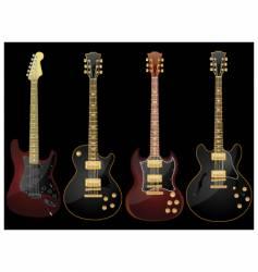 glossy guitars vector image vector image